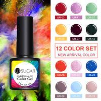 UR SUGAR 12 Colors Set UV Gel Nail Polish Glitter Soak Off Party Gel Varnish