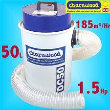 Charnwood DC50 1.5Hp 50 L Litro Portátil Vacum Extractor de polvo filtración de alta
