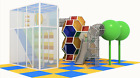 1,000 sqft Commercial Playground Cage Web Climbing Towers Turnkey We Finance
