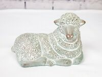 ISABEL BLOOM SHEEP LAMB, CEMENT ART SCULPTURE FIGURINE 1986 SIGNED Animal RARE
