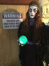 Life size Fortune Teller Halloween Party Lights Sounds Spooky