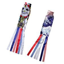 2Pcs Shop Carp Wind Sock Koinobori Wave Kite Flag Hanging Wall Decor 70cm