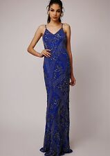 Dress 16 BNWT Virgos Lounge ASOS Embellished Summer Wedding RARE RRP £190 Blue