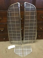 NOS 1934 AUBURN 6 RADIATOR GRILLE MOULDING INSERTS UPPER LOWER STAINLESS TRIM