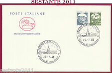 ITALIA FDC CAVALLINO CASTELLO DI SCILLA PIOBBICO PESARO 1985 TORINO U69