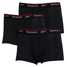 Reebok Men's Size XL Performance Boxer Shorts 3 Pack Trunks  Black