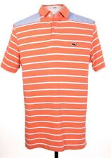 Vineyard Vines Mens S Multicolor Shoulder Accent Whale Logo Polo Rugby SS Shirt