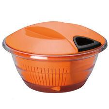 Centrifuga Insalatiera Scolapasta con Coperchio Arancio Mongardi Trix 3 Piu' 1