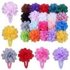 20X Chiffon Flower Girl Hair Clips Baby Hairpins Barrettes Child Headwear Pretty