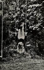 1979 Original HELMUT NEWTON Female Nude Garden Swing Large Photo Lithograph Art