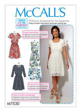McCall's Sewing Pattern M7530 7530 Misses 6-14 Easy Dresses Learn to Sew Maxi
