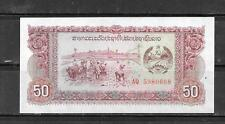 Laos 29r Replacement 1979 Unused Mint 50 Kip Old Banknote Bill Note Paper Money