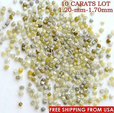 100% NATURAL Loose Rough Diamonds CUBE Shape RARE Yellow-Greenish 1.50mm 10crts
