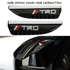 2pc TRD Carbon Fiber Rear View Side Mirror Visor Shade Rain Shield Water Guard