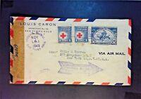 Honduras 1943 Censored Airmail Cover to USA - Z898