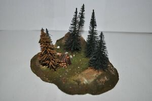 NOCH-Vau-Pe HO Forest& Woods Scene w/Trees Putz Diorama for Marklin - Vintage