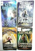 Lot of 4 Keri Arthur Dark Angels paperback novels free shipping preowned Good Co