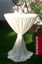 Stehtisch Husse Tischhusse Tischüberzug  WEISS 80 cm