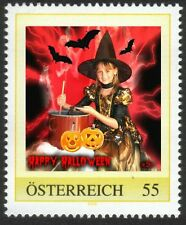 U) Personalized stamp halloween witch bat pumpkin girl AUSTRIA 2006