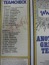 20/10/1973 Everton v Burnley [Signed On Team Line Ups By Roger Kenyon]