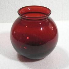 Royal Ruby red depression glass vase, Anchor Hocking ivy ball B47