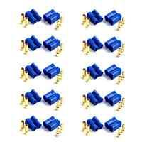10 Paar (20 Stück) EC3 Stecker Buchse Bananenstecker 3,5mm 3.5mm Goldstecker 60A