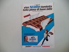 advertising Pubblicità 1973 PERUGINA SCATTO