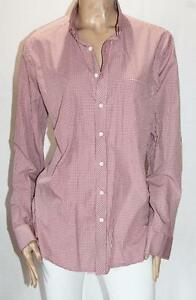 WEST END Brand Men's Red White Check Long Sleeve Shirt Size 42 NEW #SQ43