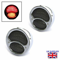 Integrated LED Stop Tail Lights & Indicators for Classic Retro Pickups CHROME