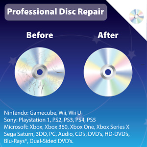 1-10 Disc Cleaning / Repair / Resurfacing. We remove scratches on ALL Discs!