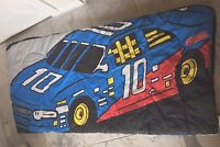 FISHER PRICE Childs Sleeping Bag Activity Mat Race Car Twin Blue Red Purple