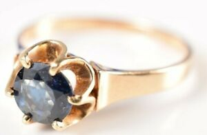 Ring 14K Yellow Gold & High Grade 1/2CT Sapphire Size 6-3/4 (2.1g)