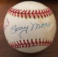 STAN MUSIAL TERRY MOORE ENOS SLAUGHTER TRI AUTOGRAPHED SIGNED AUTO BASEBALL ONLB