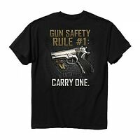 Gun Safety Rule Carry One Military Usa Flag American T Tee Shirt M-3Xl 1572