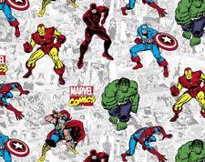 FAT QUARTER MARVEL ACTION COMIC FABRIC  SUPERHERO COMICS HULK CAPTAIN AMERICA FQ