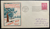 1932 Nebraska City USA First day Cover FDC Arbor Day Sc#717