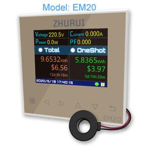 EM20 energy meter power monitor  whole house electricity watt / free transformer