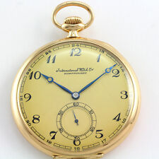 Antique International Watch Co. Open Face 14k Yellow Gold 50mm Pocket Watch