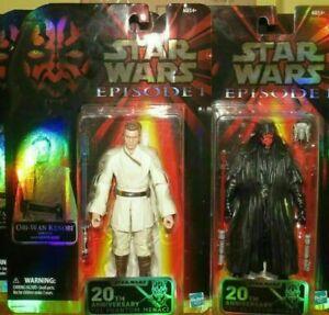 Star Wars Black Series 20th Anniversary Phantom Menace Maul & Obi Exclusives >