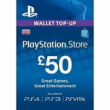 PLAYSTATION NETWORK CARD £50