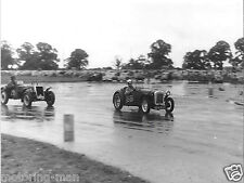 PHOTOGRAPH IBSLEY AIRFIELD CAR RACE 1952 AUSTIN SEVEN BPH 995 RINGWOOD FOTO 1