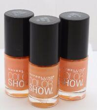 3 PK Maybelline Color Show Nail Polish 115 Pretty in Peach .23 oz