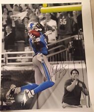 Detroit Lions CALVIN JOHNSON Signed 16x20