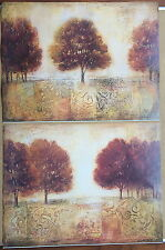"""IVO """"TAPESTRY FIELDS"""" 1 & 2 ~ TWO POSTER PRINTS - 3675 & 3676 ~ 31.5/23.5 INCH"""