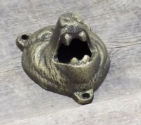 Wall Mount Bear Bottle Opener Beer Soda Pop Bar Ware Home Man Cave Cabin Iron!!!
