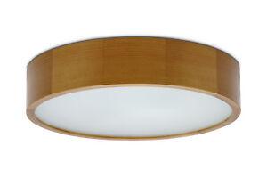 375 eiche Plafond KATIA E27 Deckenlampe Deckenleuchte glas holz runde modern