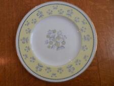 "Wedgwood Yellow Pimpernel bone china 10 3/4"" dinner plate gold trim W3865"