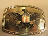 VINTAGE BELT BUCKLE BRASS WITH EAGLE