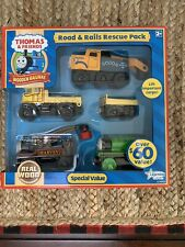 *Rare* Mint New In Box Thomas & Friends Wooden Road and Rails Rescue Pack
