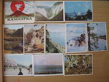 11 POSTCARD PC Russian Post Card Volcano Kamchatka Vintage Propaganda Nature SET